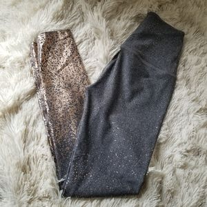 Beyond Yoga Alloy ombre legging rose gold speckle